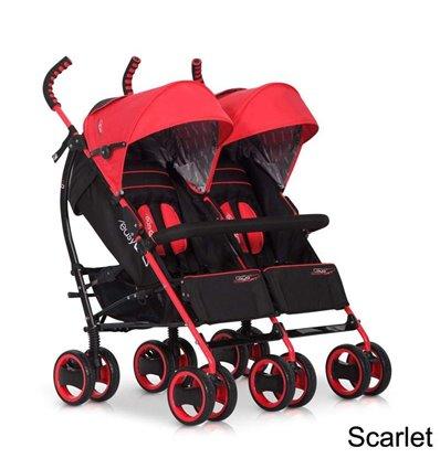 Прогулянкова коляска для двійні EasyGo Duo Comfort Sport Red