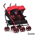 Прогулянкова коляска для двійні EasyGo Duo Comfort Scarlet