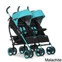 Прогулянкова коляска для двійні EasyGo Duo Comfort Malachite
