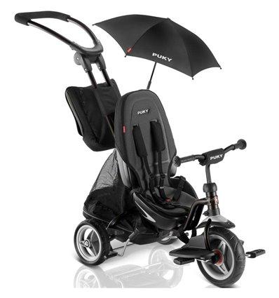Велосипед триколісний Puky CAT S6 Ceety чорний з парасолькою