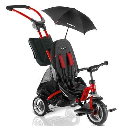 Велосипед триколісний Puky CAT S6 Ceety червоний з парасолькою