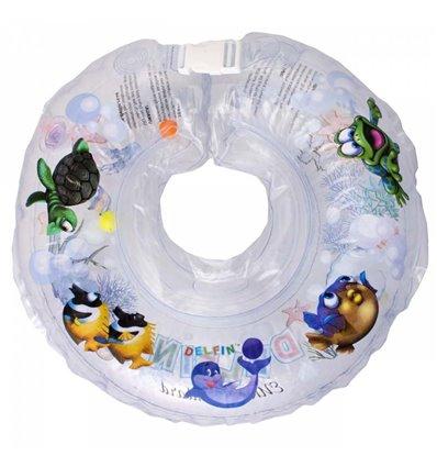 Дитячий круг для купання Tega Дельфін Прозорий