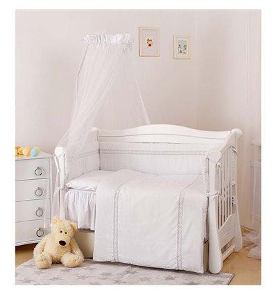 Дитячий постільний комплект Twins Magic sleep М-006 Ajour Білий 7 предметів