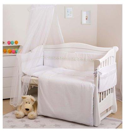 Дитячий постільний комплект Twins Magic sleep М-009 Classic Білий 6 предметів