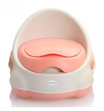 Дитячий горщик Babyhood BH-112WP Біло-рожевий