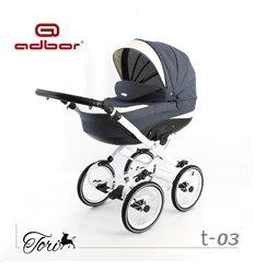 Дитяча коляска 3 в 1 Adbor Tori Classic 03