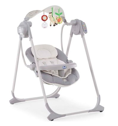 Крісло-гойдалка Chicco Polly Swing Up Silver 79110.49