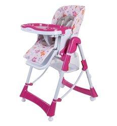 Стільчик для годування Sun Baby Laura рожевий