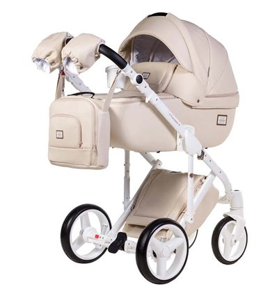 Дитяча коляска 2 в 1 Adamex Luciano Deluxe 67S Еко-Шкіра
