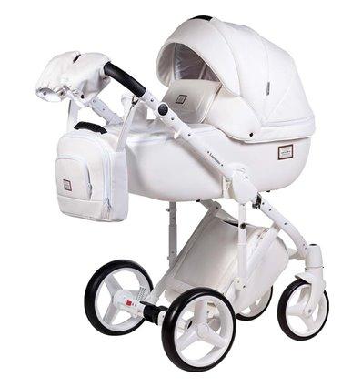 Дитяча коляска 2 в 1 Adamex Luciano Deluxe Q-107 Еко-Шкіра