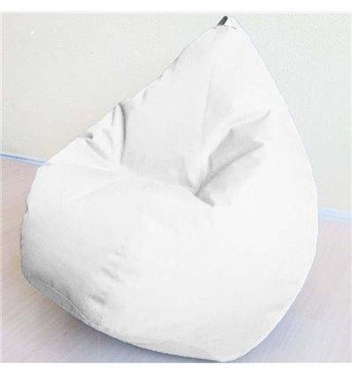 Крісло груша Оксфорд Білий 120-90 см Tia-sport