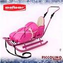 Санки Adbor Piccolino Комплект рожеві