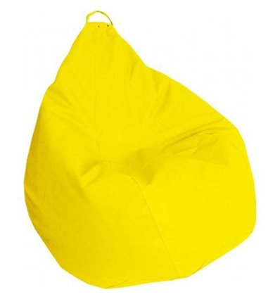 Крісло груша Практик Жовтий 90-60 см Tia-sport