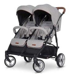 Прогулянкова коляска для двійні EasyGo Domino Grey Fox
