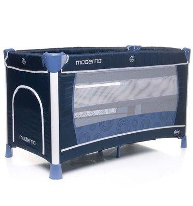 Манеж ліжечко з пеленатором 4Baby Moderno синій