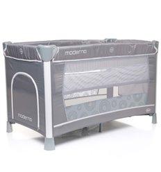 Манеж ліжечко з пеленатором 4Baby Moderno сірий