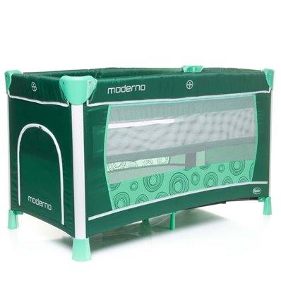 Манеж ліжечко з пеленатором 4Baby Moderno бірюзовий