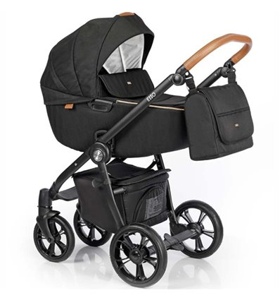 Дитяча коляска 2 в 1 Roan Esso Caviar Black