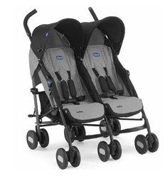 Прогулянкова коляска для двійні Chicco Echo Twin Coal