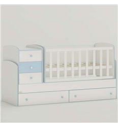 Дитяче ліжко-трансформер Oris Maya New біло-голубий