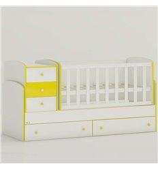 Дитяче ліжко-трансформер Oris Maya New біло-жовтий