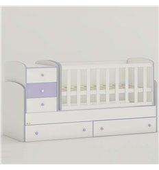 Дитяче ліжко-трансформер Oris Maya New біло-ліловий