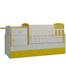Дитяче ліжко-трансформер Oris Metida Lux біло-жовтий