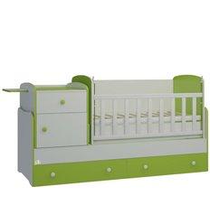 Дитяче ліжко-трансформер Oris Metida Lux біло-зелений