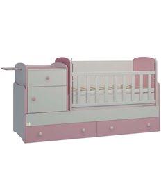 Дитяче ліжко-трансформер Oris Metida Lux біло-рожевий