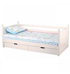 Підліткове ліжечко My-Baby Zefir з шухлядами біле