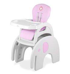 Стільчик для годування в Lionelo Eli рожевий