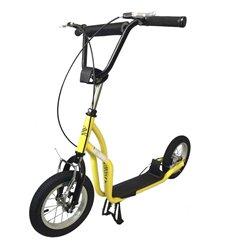 Самокат двоколісний SpeedRider 12'' з надувними колесами жовтий