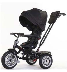 Велосипед триколісний SpeedRider з надувними колесами чорний