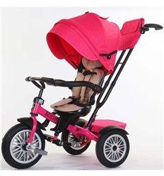 Велосипед триколісний SpeedRider з надувними колесами рожевий