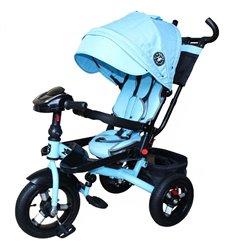 Велосипед триколісний Mars Mini Trike T400-17 джинс з надувними колесами голубий