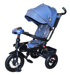 Велосипед триколісний Mars Mini Trike T400-17 джинс з надувними колесами синій