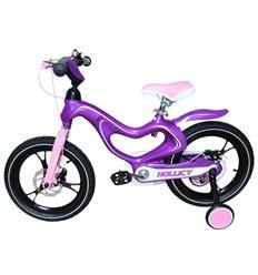 Велосипед двоколісний Hollicy MH 16'' з надувними колесами фіолетовий