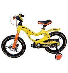 Велосипед двоколісний Hollicy MH 16'' з надувними колесами жовтий