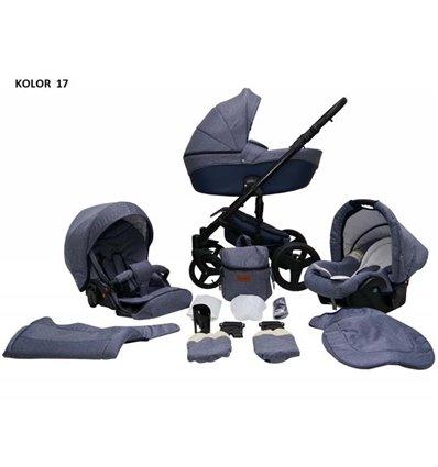 Дитяча коляска 2 в 1 Mikrus Comodo 17 Granat