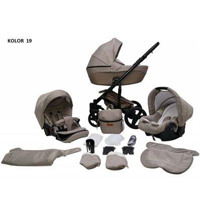 Дитяча коляска 2 в 1 Mikrus Comodo 19 Cappuccino
