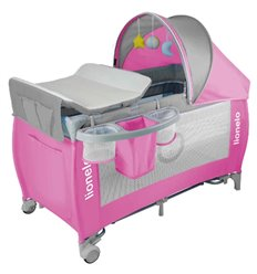 Манеж ліжечко Lionelo Sven Plus рожевий