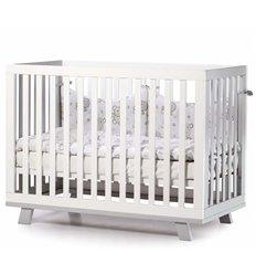 Дитяче ліжечко Верес Соня ЛД1 Манхеттен біло-сіре
