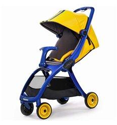 Дитяча прогулянкова коляска BabySing K-Go Yellow-Blue