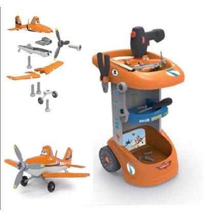 Візок з інструментами і літаком Smoby Planes Dusty 500252