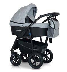 Дитяча коляска 3 в 1 Verdi Sonic Plus 06 сіра з чорним