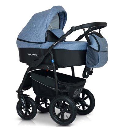 Дитяча коляска 3 в 1 Verdi Sonic Plus 07 джинс з чорним