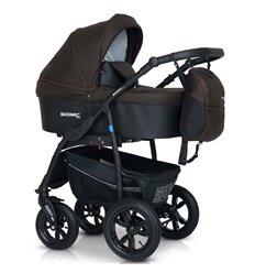 Дитяча коляска 3 в 1 Verdi Sonic Plus 08 коричнева з чорним