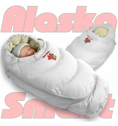 Пуховий конверт-трансформер на хутрі Ontario Alaska Smart білий 447