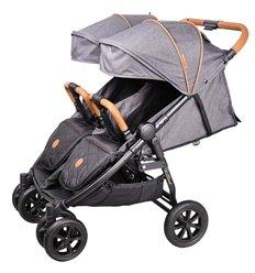 Прогулянкова коляска для двійні Coletto Enzo Twin Dark Grey