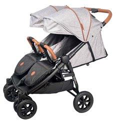 Прогулянкова коляска для двійні Coletto Enzo Twin Grey